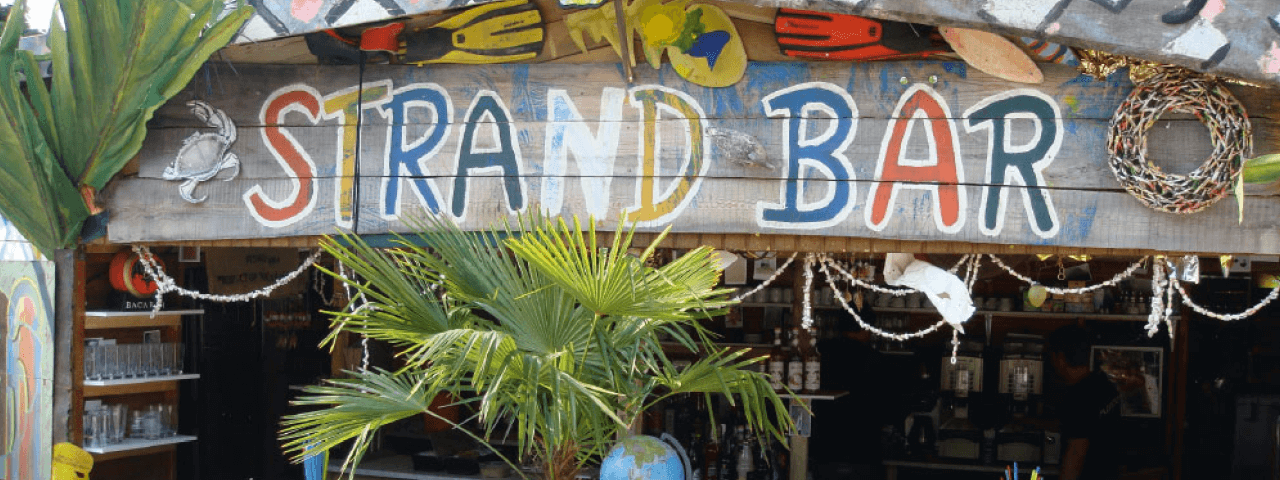 Strandbar auf der Sommerparty der PROSPER X GmbH in der Okercabana