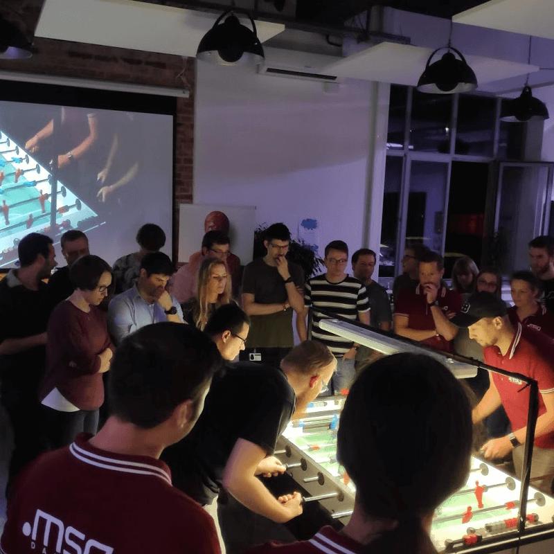Match im Rahmen des Kick IT Cup bei der msg DAVID