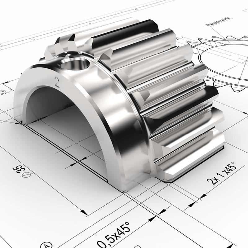 Bauteil aus einer CNC-Fräse